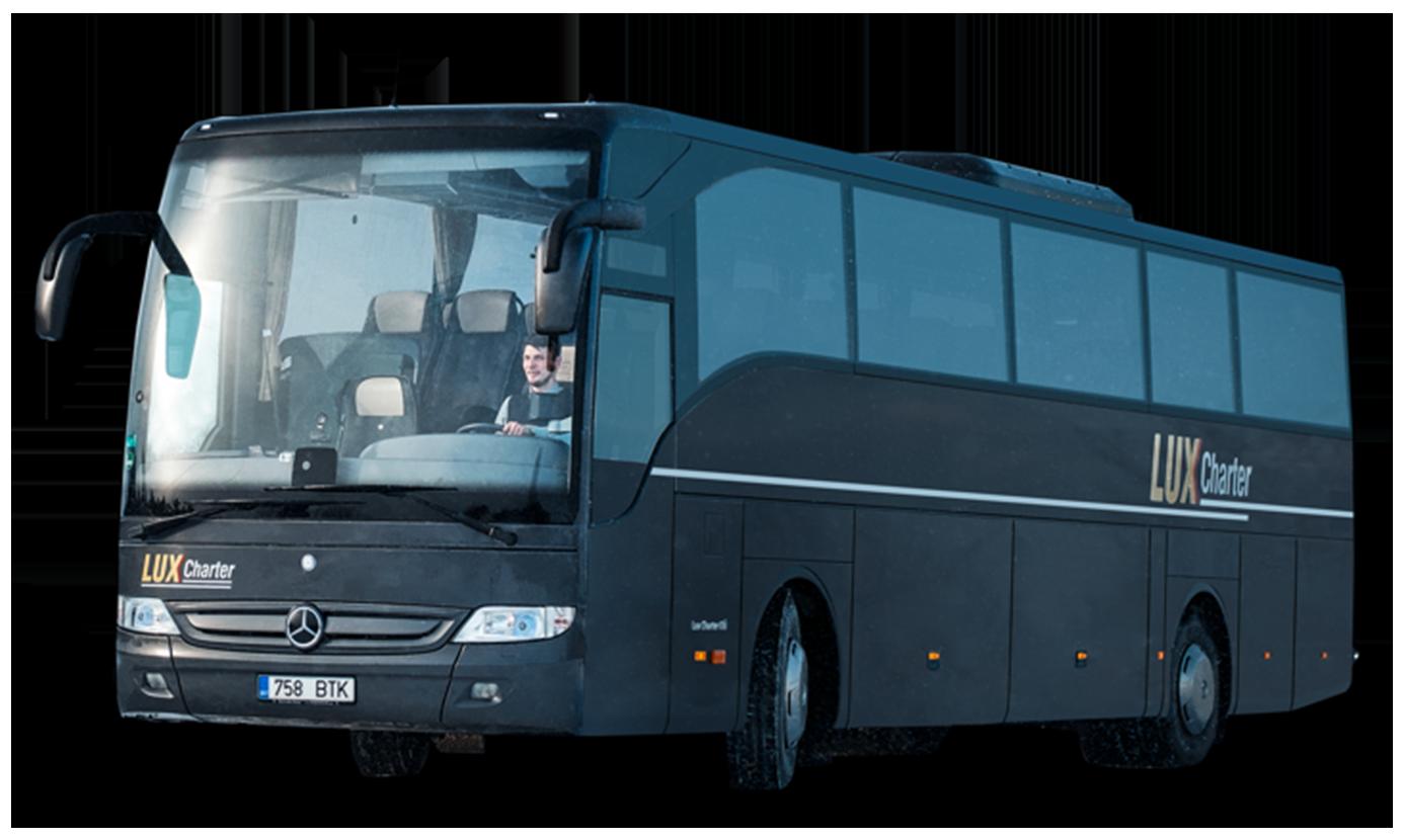 Lux Charter — kvaliteetsed, mugavad ja turvalised tellimusveo bussid